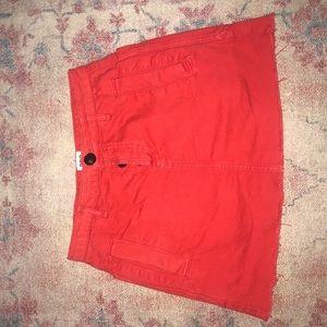 BDG coral mini skirt